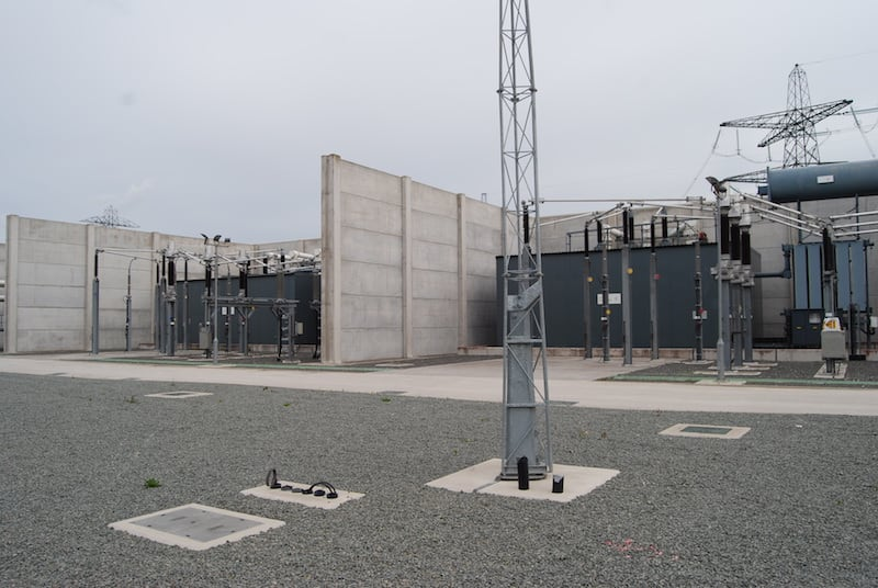 acoustic enclosures inside a power transmission plant
